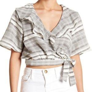 NWT Tularosa stripe wrap top